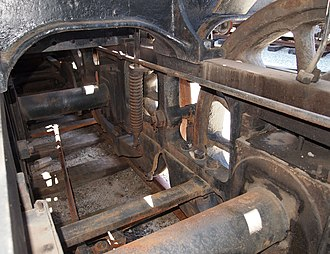 Locomotive frame - Bar frames of a WAGR U class locomotive
