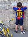 Barca Boy with Lionel Messi Shirt - Tbilisi - Georgia (18717872551) (2).jpg