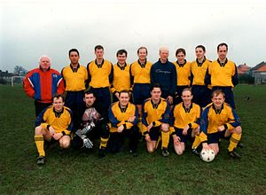 Douglas and District F.C. - Woods Cup team from debut season in 1997