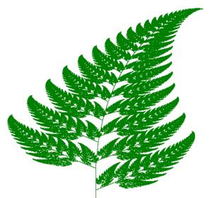 Barnsley fern - Barnsley fern plotted with VisSim.