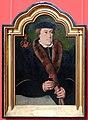 Bartolomäus bruyn il vecchio, ritratto d'uomo con garofano e guanto, 1520-50 ca. 01.jpg