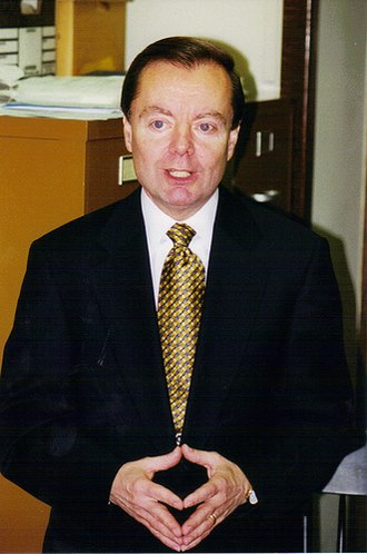 Gary Bauer - In Concord, New Hampshire, campaigning for the 2000 Republican presidential nomination.