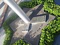 Base of Flagpole at St. Robert Bellarmine Church (Burbank, Calif).JPG