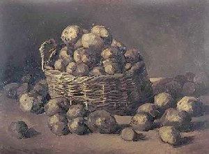 Lost works by Vincent van Gogh - Still Life with Potatoes, September 1885, Nuenen.