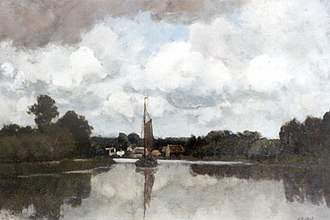 August Allebé - Image: Bastert Vechtlandschap