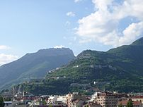 La Bastille (Grenoble) from the city