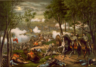 The Red Badge of Courage - Battle of Chancellorsville, published by Kurz and Allison