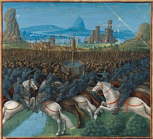 1187年のハッティンの戦い。十字軍は聖地エルサレムを失い、これが転換点となった