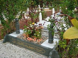 Bahasa Melayu: Gambar kubur di perkuburan Isla...