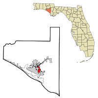 Bay County Florida Incorporated and Unincorporated areas Springfield Highlighted.svg