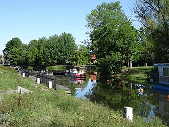 Bydgoszcz Canal - Portion of the canal downtown