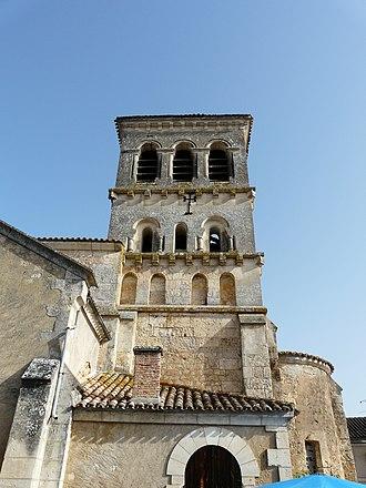 Beauronne, Dordogne - Image: Beauronne église clocher