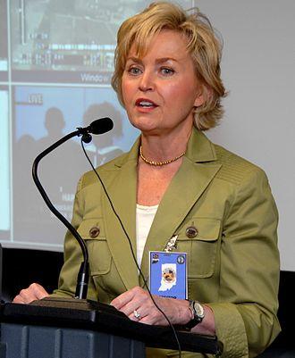Becky Skillman - Image: Becky Skillman speaking, May 12, 2007