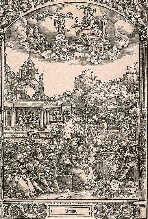 Beham oder Pencz-Die sieben Planeten-Venus-Sonn-1531-2