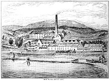 Ben Wyvis distillery drawn by Alfred Barnard in 1887