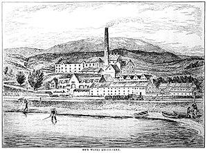 Ben Wyvis distillery - Ben Wyvis distillery drawn by Alfred Barnard in 1887