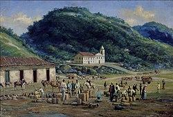 Benedito Calixto: Hospital e Igreja da Misericórdia de Santos