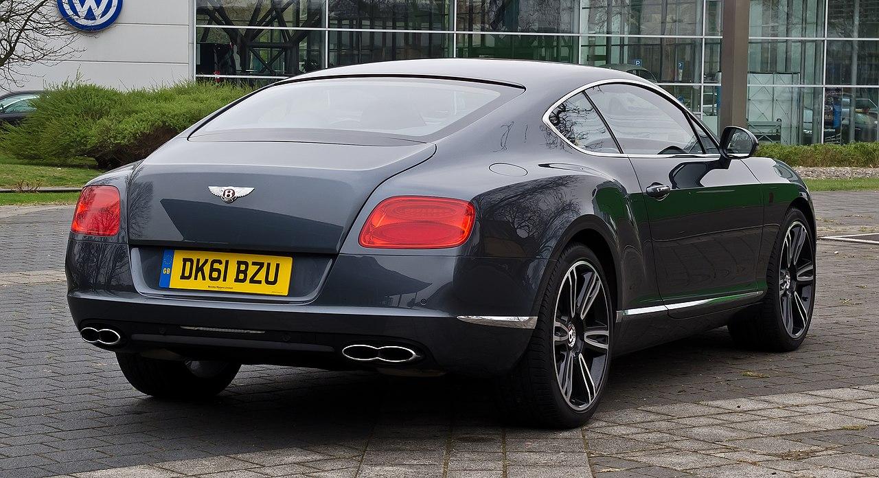 File:Bentley Continental GT V8 (II) – Heckansicht (3), 5. April 2012, Düsseldorf.jpg - Wikimedia ...