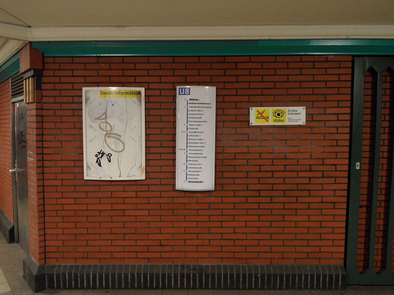File Berlin U Bahnhof Rathaus Reinickendorf Linie U8