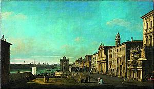 Via di Ripetta - Via di Ripetta in a painting by Bernardo Bellotto (18th century)