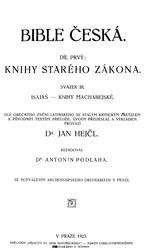 Jan Hejčl: Bible česká