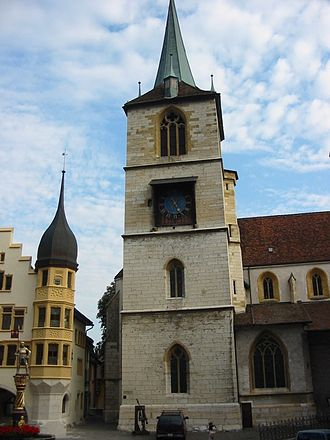 Biel/Bienne - The City Church is one of the most important late-gothic buildings in the Canton of Bern