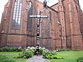 Bielawa, St Mary church, missionary cross.jpg
