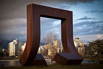 Gate to the Northwest Passage - The sculpture framing Vancouver's skyline in 2011