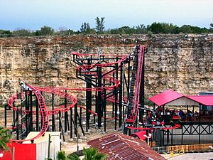 Pandemonium (roller coaster) - Fiesta Texas's Pandemonium