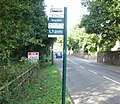 Bilingual bus stop sign - English side - geograph.org.uk - 1595829.jpg