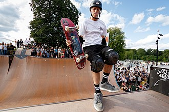Hawk in 2015 Birdhouse team in Faelledparken Skatepark (19614701730).jpg