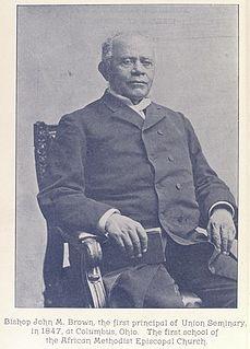 John M. Brown African-American bishop