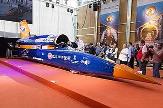 Bloodhound SSC - Bloodhound SSC at Canary Wharf, London in September 2015