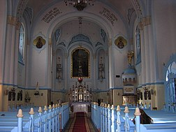 Interior view towards the altar