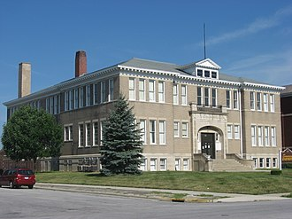 National Register of Historic Places listings in Auglaize County, Ohio - Image: Blume High School, southeastern angle