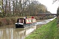 Boat heading north with bridge 83 behind, Oxford Canal, Onley - geograph.org.uk - 1566655.jpg