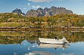 Boat with autumny background at Digermulen, Hinnøya, Norway, Norway, 2015 September.jpg