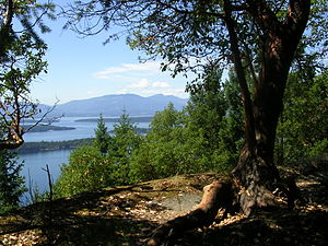 Galiano Island - Bodega Ridge offers views over Trincomali Channel