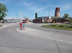 Boldogi út Bus station, S, 2017 Hatvan.jpg