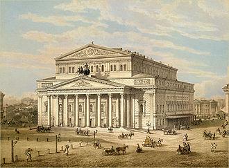 Alberto Cavos - Bolshoi Theatre in Cavos times