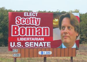 Scott Boman - Boman was the only Libertarian in Michigan to use a billboard since the 1990s.