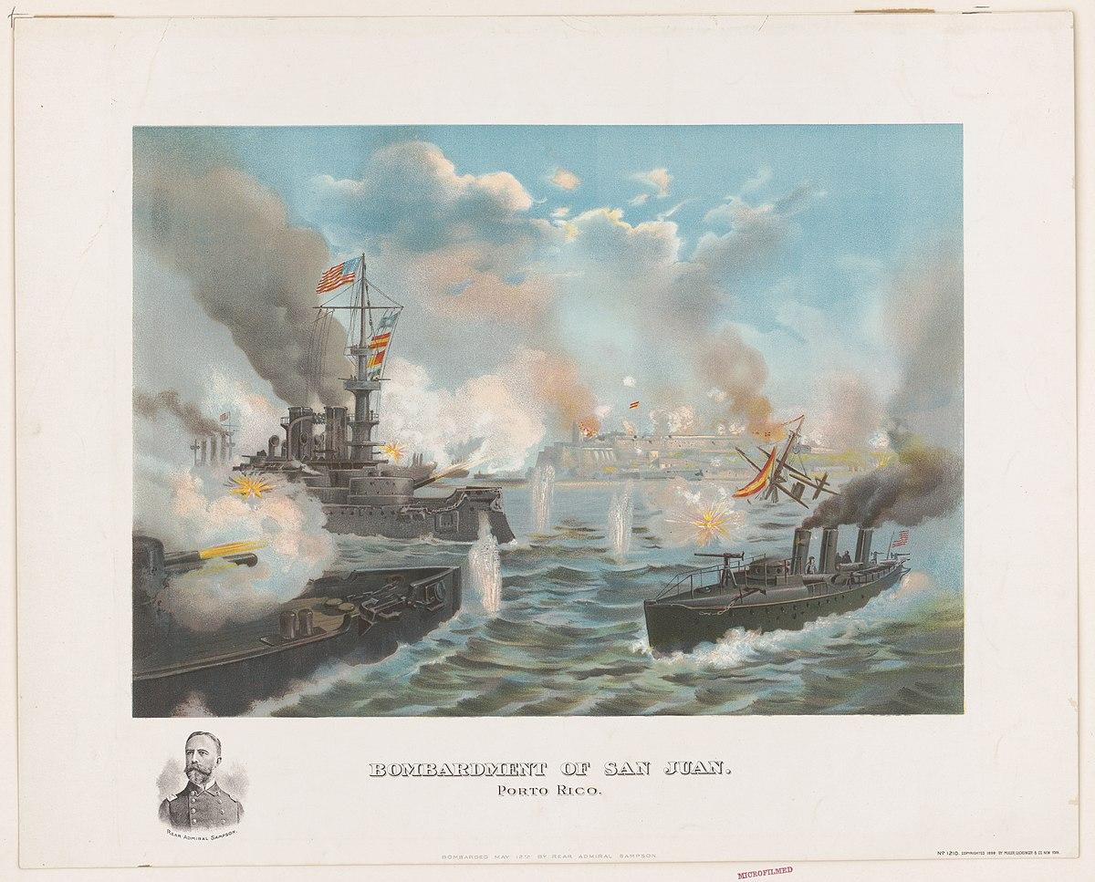 Bombardment of San Juan, Porto (sic) Rico LCCN2001695573.jpg