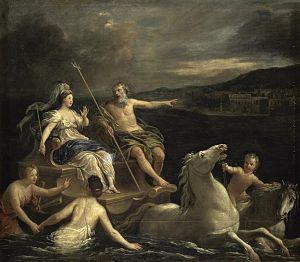 Bon Boullogne - Neptune bringing Amphitrite in his marine chariot, by Bon Boullogne, (Musée des Beaux-Arts de Tours)