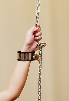 Bondage cuffs (metal) photomodel Ina.jpg