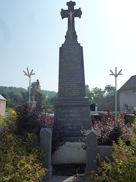 Bonningues-lès-Ardres (Pas-de-Calais) monument aux morts