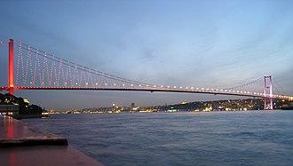 Bosphorus Bridge - Bosphorus in Istanbul, connecting Europe and Asia.