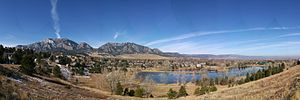 Boulder Pano from Fairview HS
