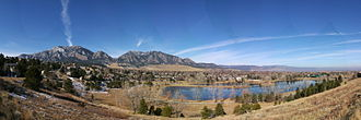 Boulder County, Colorado - Boulder and the mountains to the west of the city