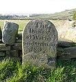 Boundary stone, Balkram Edge - geograph.org.uk - 1221038.jpg