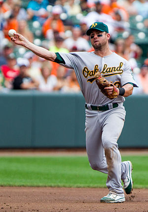 Brandon Hicks - Hicks playing for the Oakland Athletics in 2012